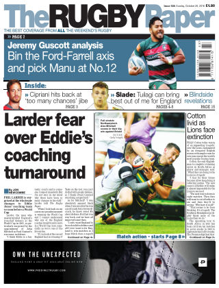 The Rugby Paper 28th October 2018