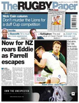 The Rugby Paper 4th November 2018