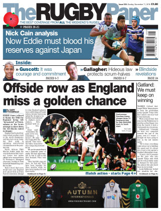The Rugby Paper 11th November 2018