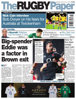 The Rugby Paper 18th November 2018
