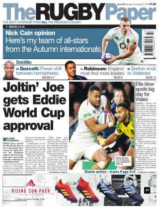 The Rugby Paper 25th November 2018