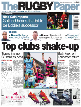 The Rugby Paper 9th December 2018