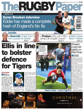 The Rugby Paper 16th December 2018