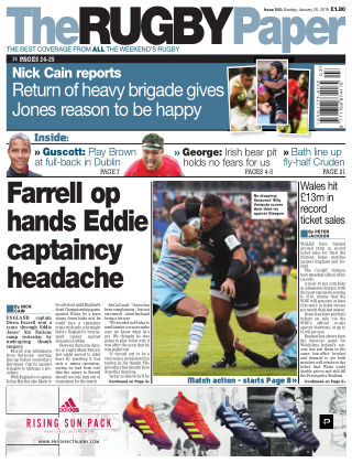 The Rugby Paper 20th January 2019