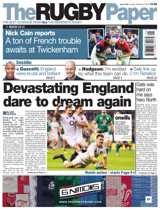 The Rugby Paper 3rd February 2019