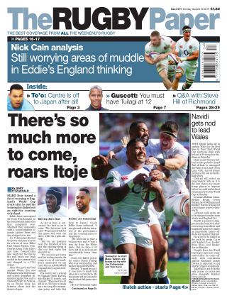 The Rugby Paper 25th August 2019