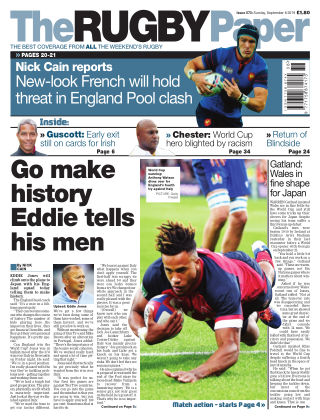 The Rugby Paper 8th September 2019