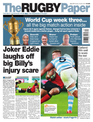 The Rugby Paper 6th October 2019