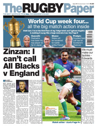 The Rugby Paper 13th October 2019