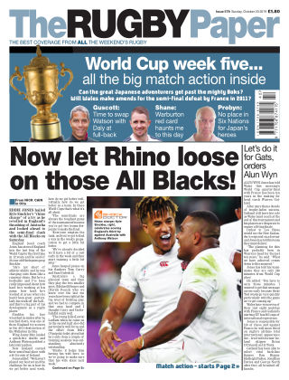 The Rugby Paper 20th October 2019