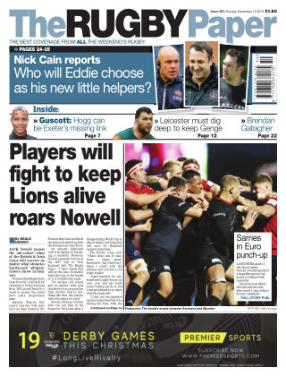 The Rugby Paper 15th December 2019