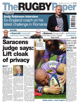 The Rugby Paper 12th January 2020