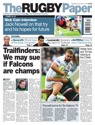 The Rugby Paper 22nd March 2020