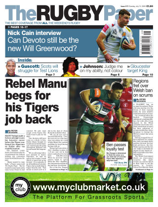 The Rugby Paper 12th July 2020