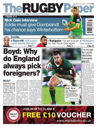 The Rugby Paper 9th August 2020