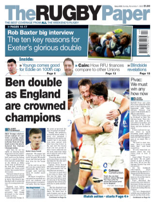 The Rugby Paper 1st November 2020
