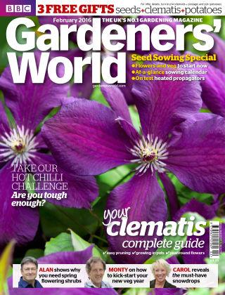 BBC Gardeners World February 2016
