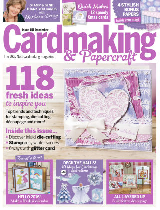Cardmaking and Papercraft Dec 2015