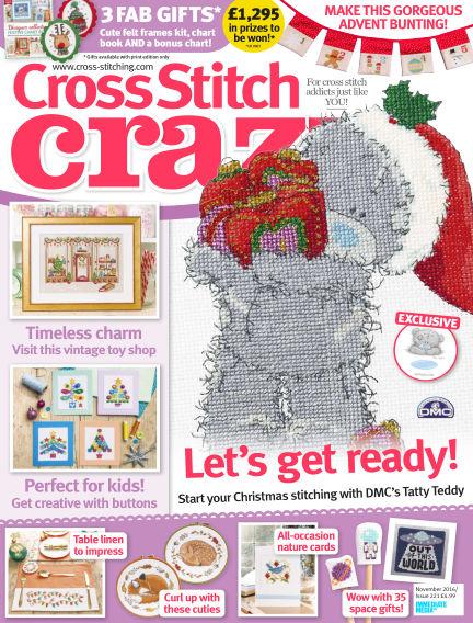 Cross Stitch Crazy September 01, 2016 00:00