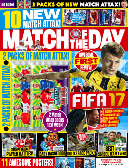 Match of the Day September 27, 2016 00:00