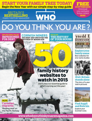 Who Do You Think You Are? Jan 2015