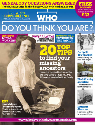 Who Do You Think You Are? May 2015
