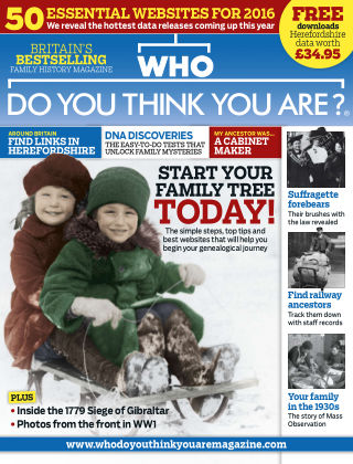 Who Do You Think You Are? Jan 2016