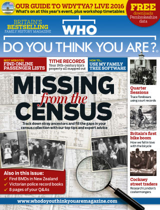 Who Do You Think You Are? Apr 2016