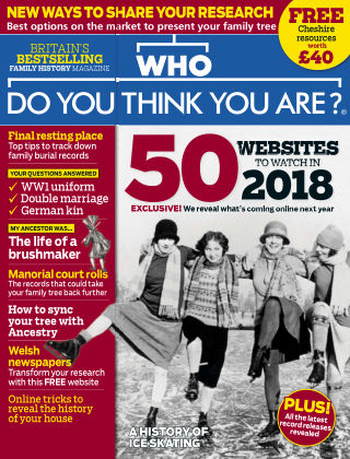 Who Do You Think You Are? January 2018
