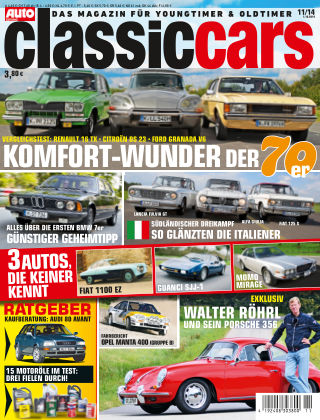 Auto Zeitung Classic Cars NR.11 2014