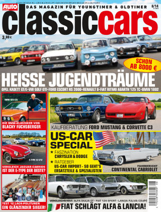 Auto Zeitung Classic Cars NR.8 2014