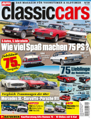 Auto Zeitung Classic Cars NR.09 2018