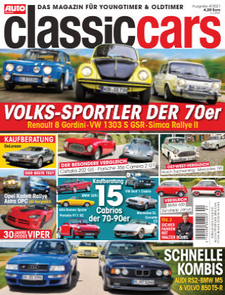 Auto Zeitung Classic Cars NR.04 2021