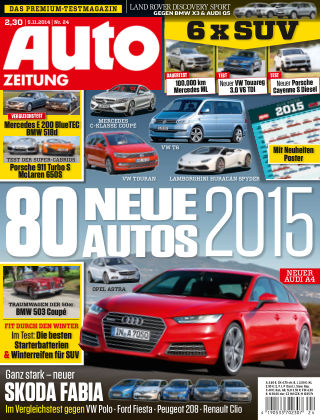 Auto Zeitung NR.24 2014