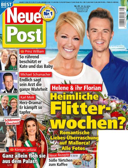 Neue Post October 29, 2014 00:00