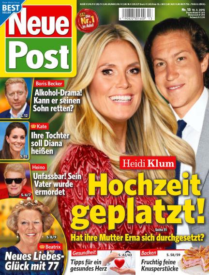 Neue Post March 18, 2015 00:00
