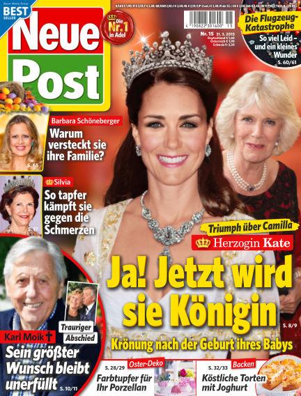 Neue Post March 31, 2015 00:00