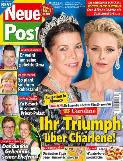 Neue Post August 10, 2016 00:00