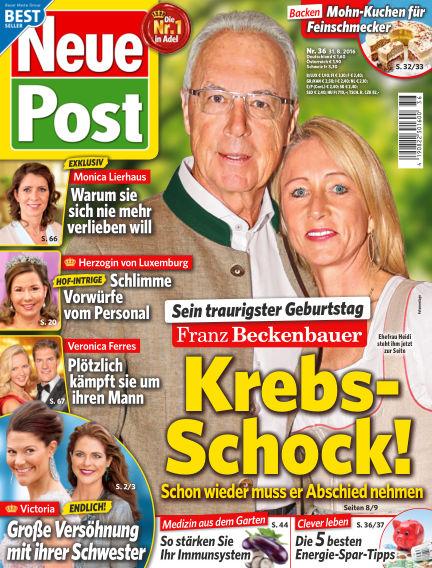 Neue Post August 31, 2016 00:00