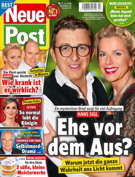 Neue Post February 07, 2018 00:00