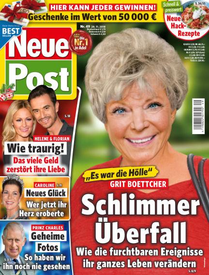 Neue Post November 28, 2018 00:00