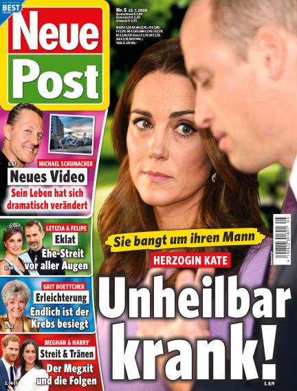 Neue Post January 22, 2020 00:00