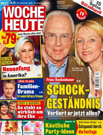 Woche Heute December 22, 2015 00:00