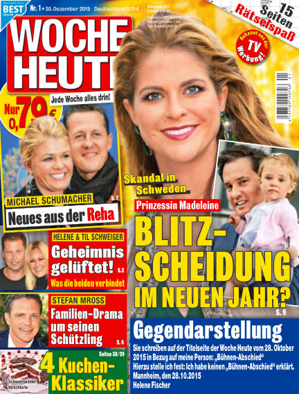 Woche Heute December 30, 2015 00:00