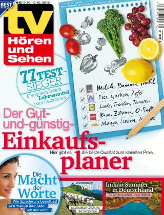 TV Hören und Sehen NR.40 2015