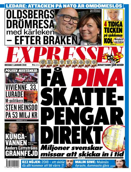 Expressen January 03, 2018 00:00