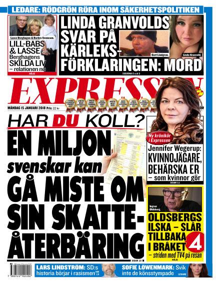 Expressen January 15, 2018 00:00