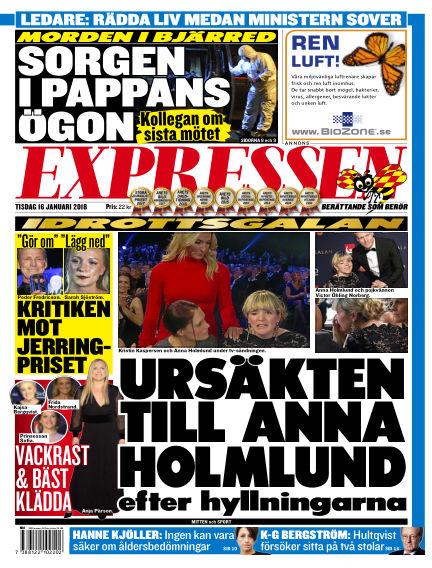 Expressen January 16, 2018 00:00