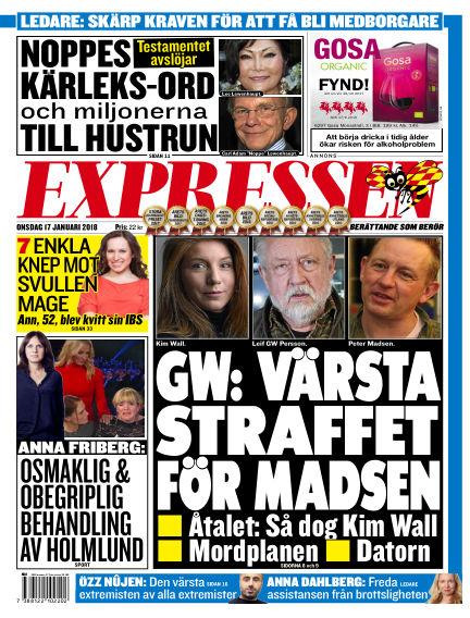 Expressen January 17, 2018 00:00