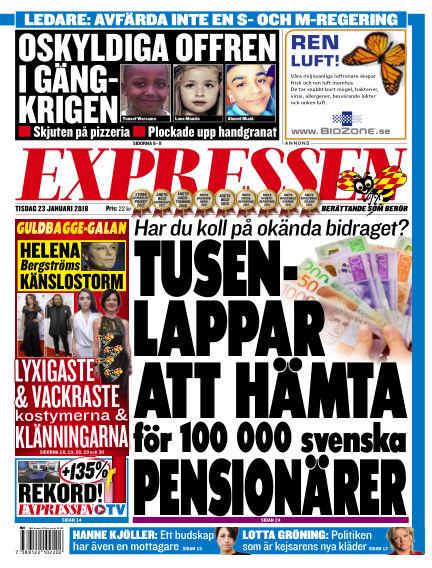 Expressen January 23, 2018 00:00